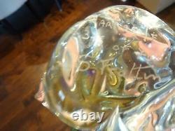 11 LIMITED SIGNED S Sandro Frattin Murano Art Glass Parrot Bird Sculpture GOLD
