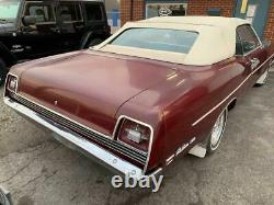 1969-1972 Ford Galaxie & LTD Vinyl Convertible Top, with Glass & Pads White