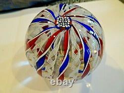 1969 Perthshire Glass CROWN Millefiori Double Twists PAPERWEIGHT 1st LTD ED