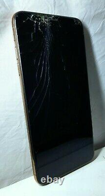 AS-IS Bad FMI-On Cracked Apple iPhone XS MAX a1921 Gold Verizon CDMA GSM