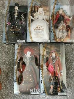 Alice In Wonderland Through The Looking Glass collectable dolls full set-rare