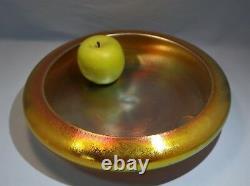 Art Nouveau Steuben Gold Aurene Large Display Bowl Early 20th Century