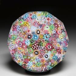 Baccarat (1958) zodiac Church Weight close packed millefiori glass paperweight