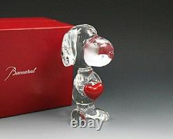 Baccarat Cystal Snoopy Holding Heart BRAND NEW IN RED BACCARAT BOX SET