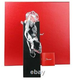 Baccarat Ltd Jungle Lying In Wait Panther Clear Crystal On Stand France New Box
