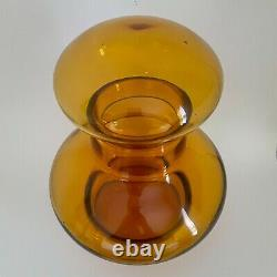 Blenko 7328 large wheat art glass decanter by John Nickerson, produced 1973-74