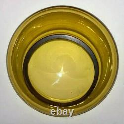 Blenko Art Glass Wheat 7327 Apothecary Handled Jug Mushroom Stopper Jar On Sale