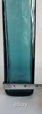 Blenko Wayne Husted Art Glass Decanter 5825s in Sea Green 1958-60 MCM