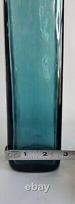 Blenko Wayne Husted Art Glass Decanter 5825s in Teal 1958-60 MCM