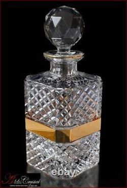 Bohemia Crystal Whisky Decanter H26 cm, V1000 ml, Versace Gold New