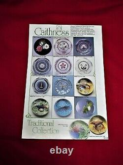 Caithness Paperweight Winter Flower Excellent Lamp Work 375/500 Very Rare