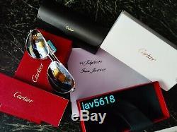 Cartier Sunglasses Santos Dumont Aviator Pilot Worldmap Limited Gold Horizon