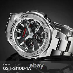 Casio G-Shock GST-S110D-1A Steel 20ATM 59.1x52.4mm Mineral Glass 195g Solar EMS