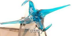 Chalet Lorraine Blown Art Glass Deep Blue Center Piece