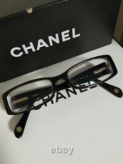 Chanel Eyeglasses 3096-B Limited Edition Swarovski Crystal Black Frames RARE