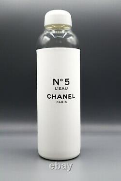 Chanel Factory 5 Limited Edition Glass Water Bottle With Fish Net Bag & Gift Box