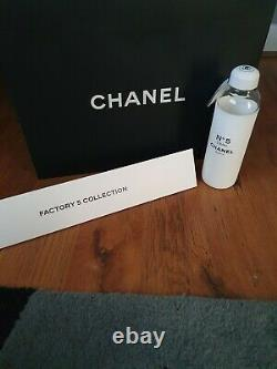 Chanel No 5 Glass Water Bottle Factory Collection Limited Edition BNWT