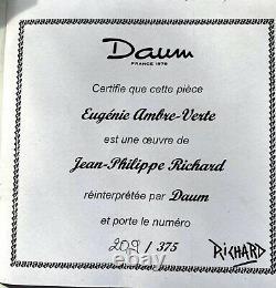 Daum Eugenie 16 Elegant Lady Pate de Verre Jean Philippe Richard Ltd Edition
