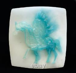 Daum Pâté Pate de Verre Glass Pegasus Sculpture by Salvador Dali, Ltd Ed of 250