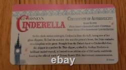 Disney Store Cinderella Limited Edition Glass Slipper 1 of 250 25th Anniversary