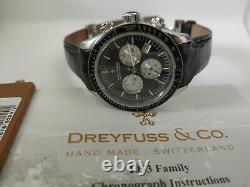 Dreyfuss & Co Gentleman's 1953 Chronograph Men's Watch DGS00032/04 Sapphir Glass