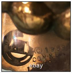 Erte RARE Baccarat Crystal Vase Grapes Signed Bronze Art Deco Large Birds Glass