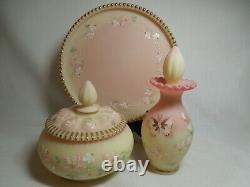 Fenton Burmese Vanity Set of Perfume, Powder and Tray LE 1021/2000