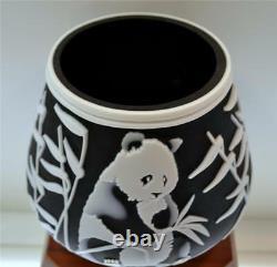 Fenton KELSEY MURPHY Sand Carved Panda Bear 34142Z LE #d 123/350 FREEusaSHIP