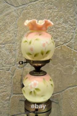 Fenton Lamp YELLOW BURMESE SATIN Bluebird 8908A6 #d 136/1250 18 Free48stSHIP