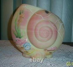 Fenton Nautillis Sea Shell Burmese Vase Frank Fenton Memorial Ltd. Ed. C. 2005