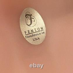 Fenton Rosalene Floral Hand Painted Basket Signed Shelley Fenton And S Jackson