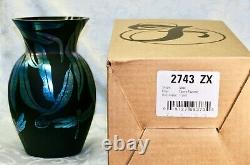 Fenton, Vase, Ebony Favrene Glass, Kelsey Murphy, Dragonflies, Limited Edition