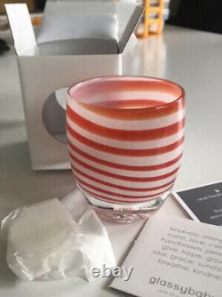 Glassybaby Candy Cane, New, Limited Edition, Retired
