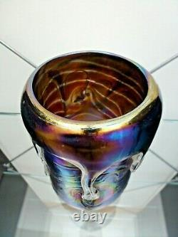 John Ditchfield Glasform Lava Vase from the Unique Collection Signed Numbered