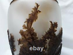 Kelsey Murphy Pilgrim Cameo Glass Sunset Giraffe 12 Vase Ltd Ed Signed/Dated