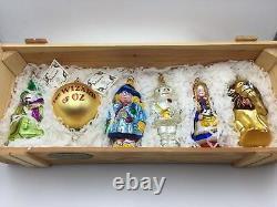 Kurt Adler Polonaise Collection WIZARD OF OZ 6 pc Glass Ornament Christmas Ltd