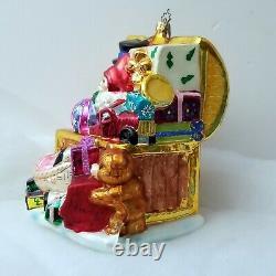 LE #3 Santa Toychest CHRISTOPHER RADKO Marshall Fields Walnut Room XMAS ORNAMENT