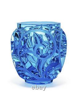 Lalique Tourbillons Limited Edition Light Blue Vase