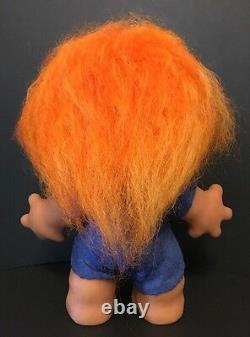 Limited Edition Boy Rare 9 Thomas Dam Troll Doll Orange Hair Glass Eyes 1990