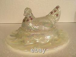 Limited Edition Fenton Egg Plate Hen Chicken Server Hand Painted #387/950
