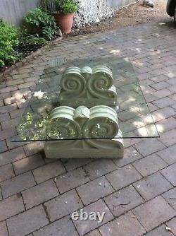 Ltd free delivery STYLISH QUALITY GLASS TOPPED & STONE HADDENSTONE LOW TABLE