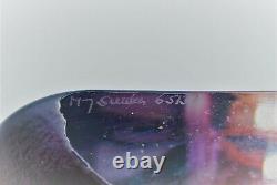 Maleras Mats Jonasson Art Object Masq Ideo In Redand Purple. Signed
