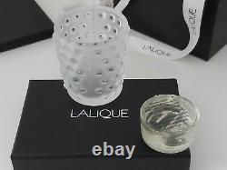 Mossi Candle Vase Lalique Limited Edition Set Of Two