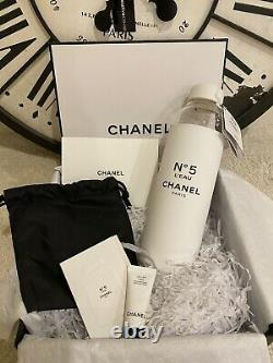 NEW Chanel Factory No. 5 Leau Glass Limited Edition Water Bottle & Gift