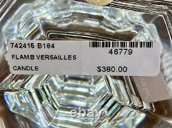 NIB Baccarat Versailles 9 Crystal Candlestick Signed Authentic Candle Holder