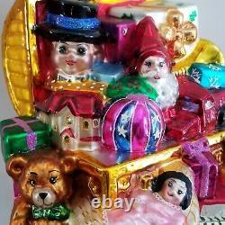 OOAK GIFT No. 1 Radko JUMBO LE 1/75 Xmas Ornament MARSHALL FIELDS 2002 TOY CHEST
