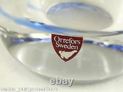 ORREFORS Glass Olle Alberius Graal Vase Pearl Fishermen 9 1/2