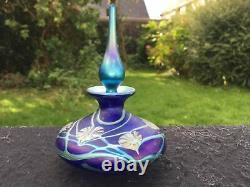 Okra iridized Perfume bottle Richard Golding signed 643 / 1000 limited edition