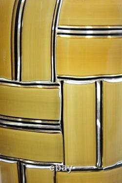 RARE ERCOLE BAROVIER TESSARE AMBRE a BAROVIER AND TOSO Glass Vase