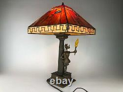 RARE Limited Edition Goofy 65th Anniversary Stained Glass Lamp NEW